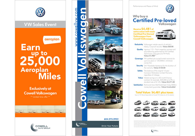 Cowell Volkswagen Promotion Collateral In-Store Banners