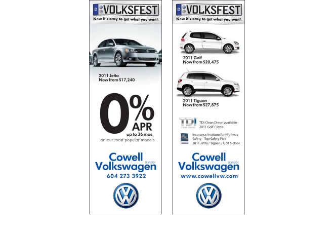 Cowell Volkswagen Volksfest Campaign Print Ad